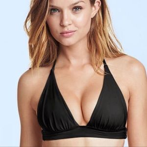 Victoria's Secret The Plunge Halter bikini top XS